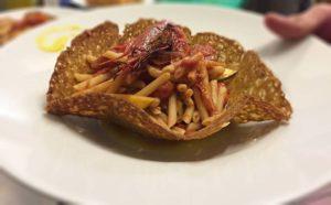 ristorante tipico domo mia pasta gamberoni